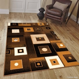 "Allstar Brown Modern Contemporary Casual Formal Brown Area Rug (3' 9"" x 5' 1"")"