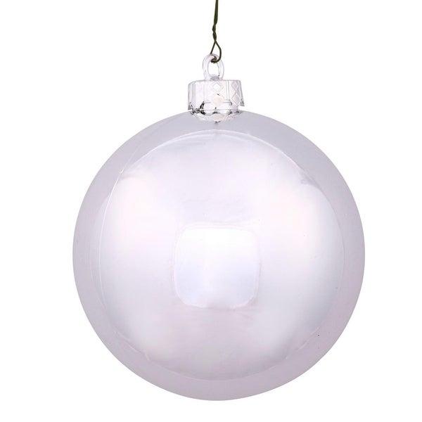 Shiny Silver UV-Resistant Shatterproof Christmas Ball Ornament - (70mm)