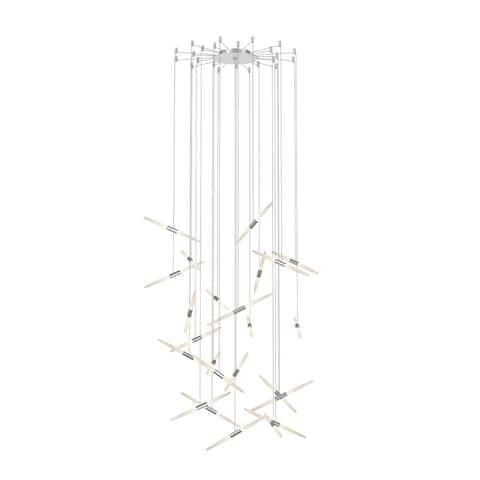 Ballet 24-Light Bright Satin Aluminum Swag LED Pendant
