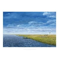 ''The Kayaker'' by Doug Zider Coastal Art Print (14 x 20 in.)