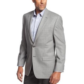 Ralph Lauren RL Grey Silk and Wool Check Sportcoat Blazer 41 Regular 41R