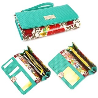 JAVOedge Floral Smartphone Clutch Wallet Case