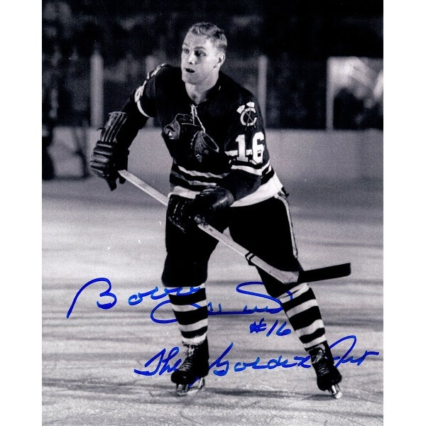 3dfcb4948 Shop Bobby Hull Chicago Blackhawks BW 8x10 Photo wThe Golden Jet - Free  Shipping Today - Overstock.com - 20256119
