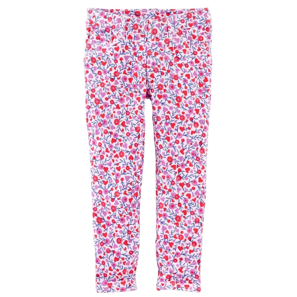 12m, Pink Carters Baby Girls French Terry Jeggings Pants