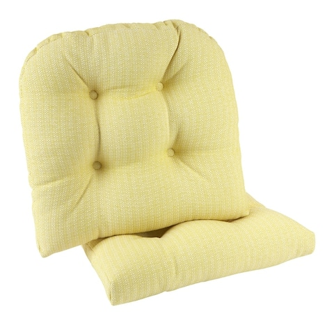 "Gripper Non-Slip 17"" x 17"" Omega Tufted Chair Cushions, Set of 2"