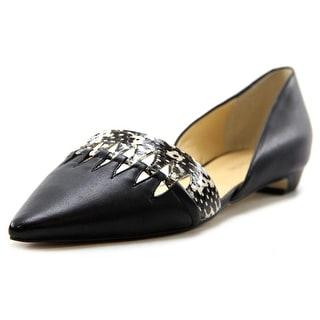 Ivanka Trump Teigan Women Pointed Toe Leather Black Flats