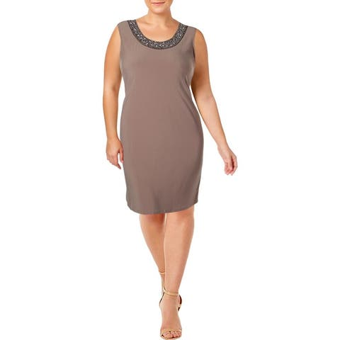 R&M Richards Womens Cocktail Dress Embellished Sleeveless