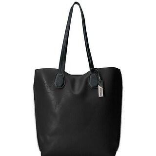 Kenneth Cole Reaction Womens Hamilton Tote Handbag Faux Leather Pebbled - Large