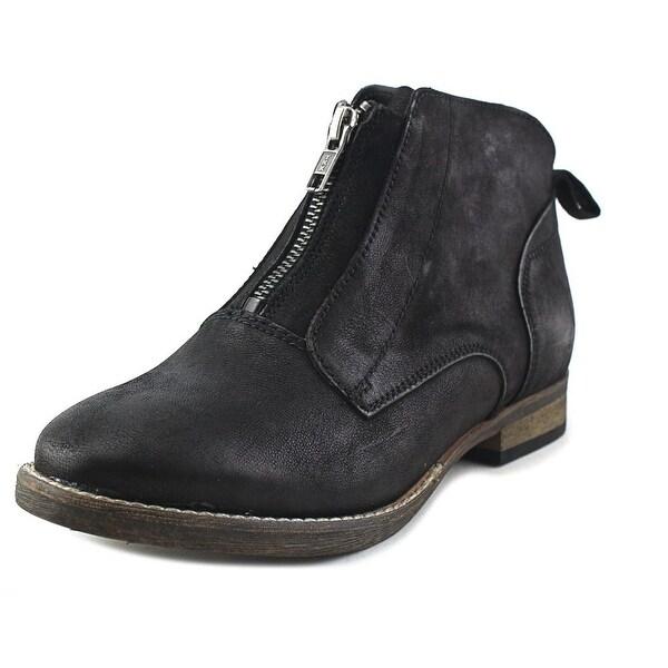 Diba Eli 91122 Women Round Toe Leather Black Ankle Boot