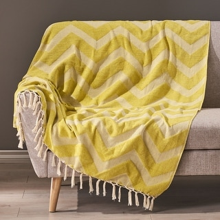 Bemiss Hand-Loomed Throw Blanket by Christopher Knight Home