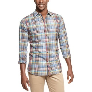 Argyle Culture By Russell Simmons Plaid Check Shirt Multi-Color X-Large