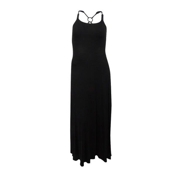Lauren Ralph Lauren Women\'s Macrame-Strap Jersey Maxi Dress (Black ...