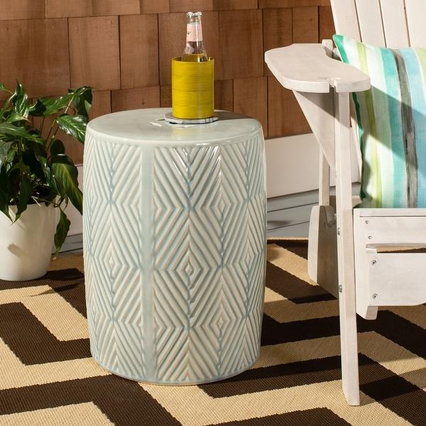 Safavieh Hemdi Indoor/ Outdoor Diamond Geometric Ceramic Decorative Garden Stool