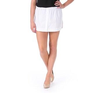 No. 21 Womens Poplin Front Vent Mini Skirt - 40