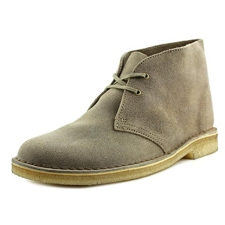 Clarks Originals Desert Boot Men  Round Toe Leather Gray Desert Boot