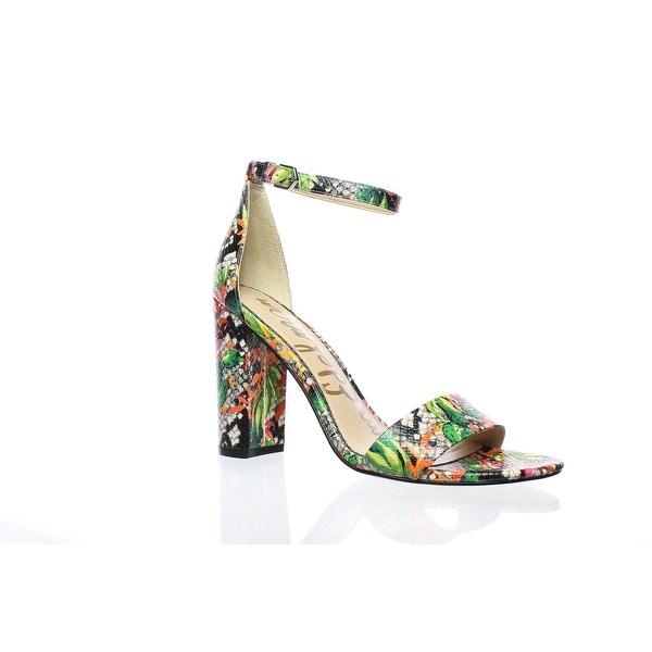 e47d7bd21d2505 Shop Sam Edelman Womens Yaro Bright Multi Ankle Strap Heels Size 8 ...