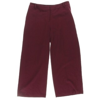 Kensie Womens Casual Pants Cropped Flat Front