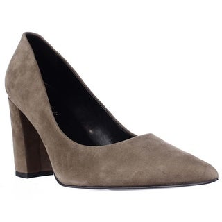 Marc Fisher Daniela Pointed Toe Block Heel Dress Pumps - Dark Green