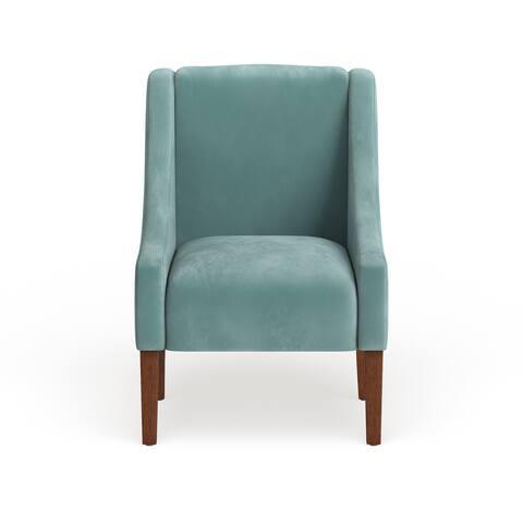 Homepop Modern Velvet Swoop Arm Accent Chair