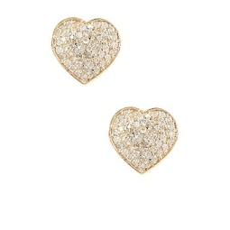 Pave Heart Diamond Stud, Diamond Stud, Heart Stud