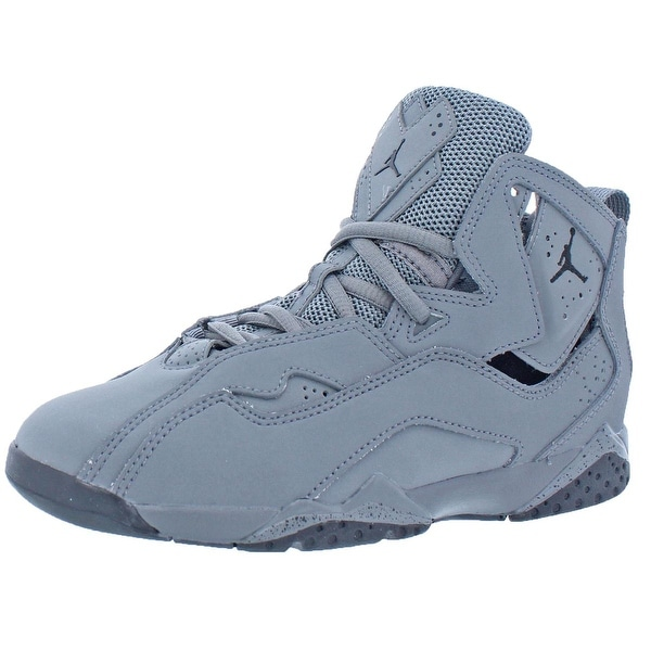 Shop Jordan Boys True Flight Basketball Shoes Mesh Inset Cut