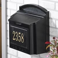 Whitehall Oversized Wall Mailbox (Black)