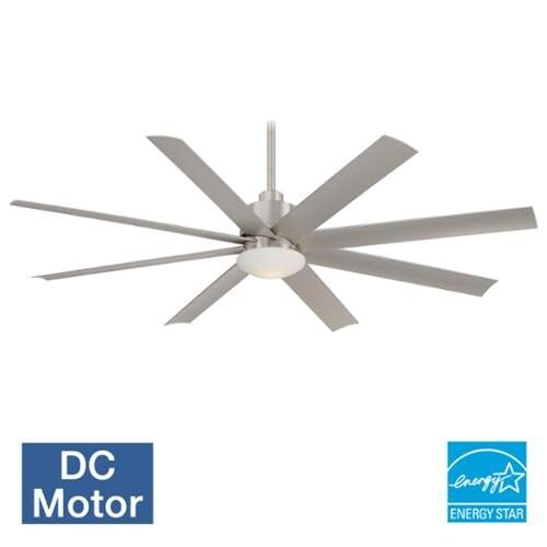 """MinkaAire Slipstream Slipstream 65"""" 8 Blade Indoor / Outdoor Ceiling Fan with Blades and Light Kit Included"""