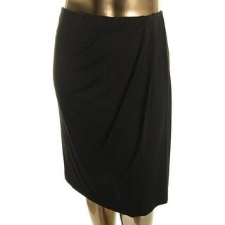 DKNYC Womens Pleated Above Knee Pencil Skirt