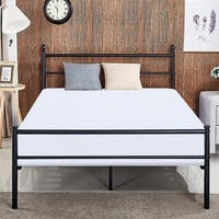 VECELO Kids Beds Twin/Full/Queen Size Metal Platform Bed Frames with Headboard Footboard