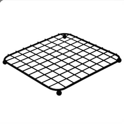 Home Basics Grid Collection Black Non-Skid Square Trivet - 7.25'' x 7.25'' x 0.5'' (18.5 x 18.5 x 1.5 cm)