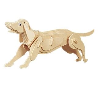 DIY Dog Model Woodcraft Construction Kit 3D Educational Toy for Kids