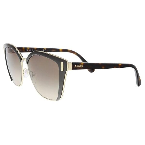 28da03923e Shop Prada PR 56TS DHO3D0 Brown  Pale Gold Cat eye Sunglasses - 57 ...