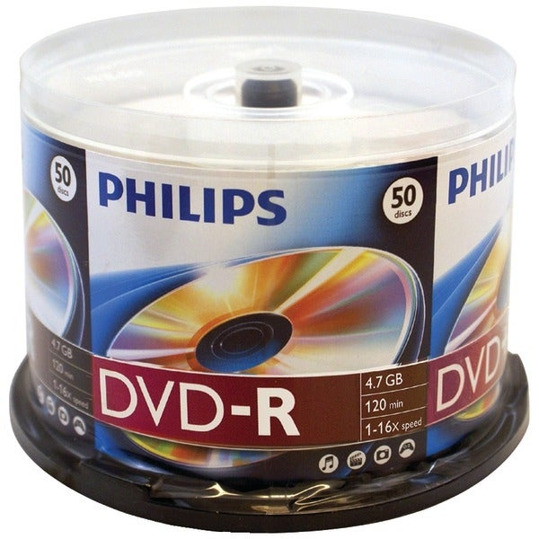 Philips Dm4S6B50F/17 4.7Gb 16X Dvd-Rs (50-Ct Cake Box Spindle)