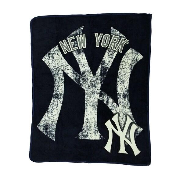 Shop MLB New York Yankees Micro Raschel Plush Throw Blanket 40 X 40 Inspiration Yankees Throw Blanket