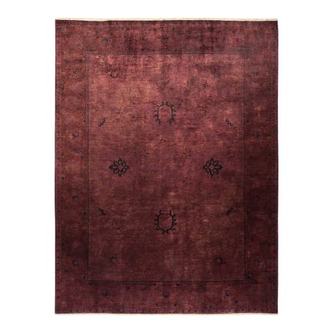 """Vibrance, One-of-a-Kind Hand-Knotted Area Rug - Brown, 9' 2"""" x 11' 7"""" - 9' 2"""" x 11' 7"""""""