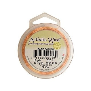 Artistic Wire 22Ga Pkg Bare Copper 15yd