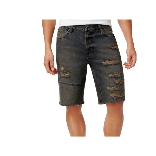 6c1f3d61fc Shop LRG Mens Denim Shorts Destroyed Cutoff - Free Shipping On Orders Over  $45 - Overstock - 22902057