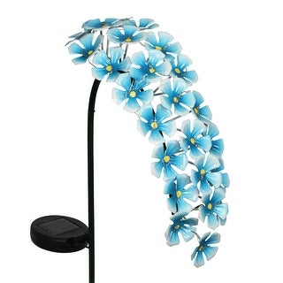 Exhart Solar Metal Hanging Flower Garden Stake with Twenty Four LED lights, 11 by 28 Inches