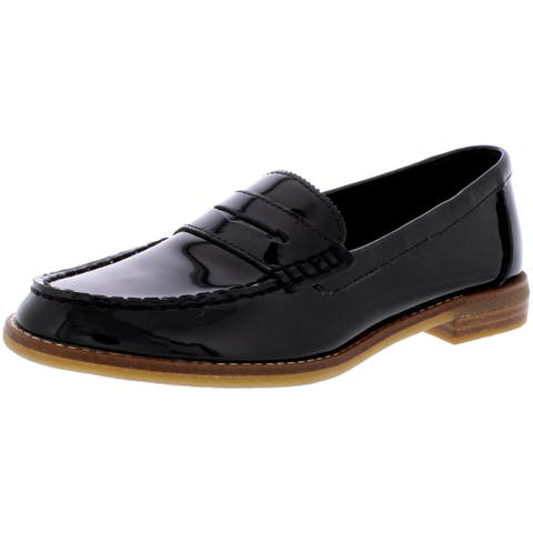Sperry Womens Seaport Penny Loafers Patent Slip On - Black Patent
