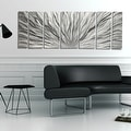 Statements2000 Silver Etched Modern Metal Wall Art Sculpture by Jon Allen - Silver Plumage - Thumbnail 7