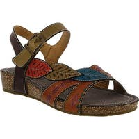 L'Artiste by Spring Step Women's Kukonda Quarter Strap Sandal Camel Multi Leather