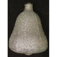 "15"" Sparkly Silver Inflatable Tinsel Bell Commercial Christmas Ornament"