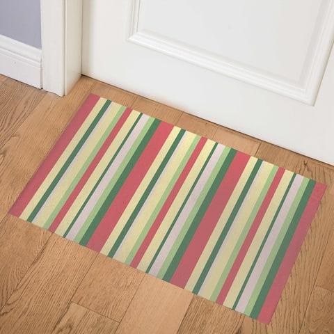 AILANI STRIPED TROPICS Indoor Floor Mat by Kavka Designs