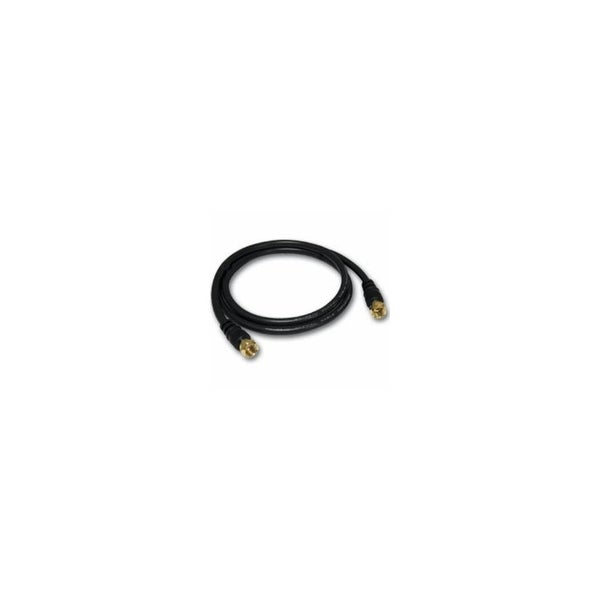 C2G 27030 C2G 6ft Value Series F-Type RG59 Composite Audio/Video Cable - F Connector Male - F Connector Male - 6ft - Black