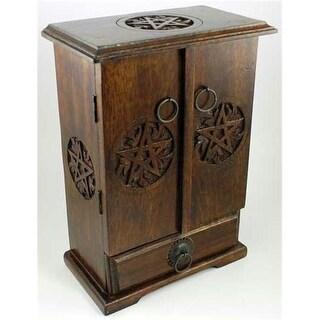 AzureGreen FBMW32 Wooden Pentagram Cupboard