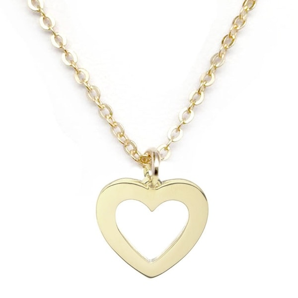 "Julieta Jewelry Heart Gold Charm 16"" Necklace"