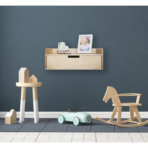 Kate and Laurel Kitt Premium Sold Wood Floating Shelf Side Table