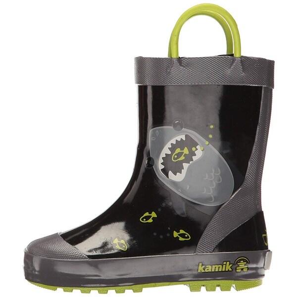 8a466767250 Kids Kamik Girls Chomp Rubber Knee High Pull On Rain Boots - 4 m us toddler