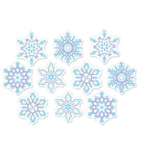 """Club Pack of 240 Mini Snowflake Cutout Christmas Party Decorations 4.5"""" - Purple"""