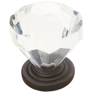 Amerock 14303ORB Acrylic Round Crystal Cabinet Knob, Oil Rub Bronze
